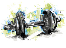 Painted Dumbbell Stock Image