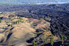 Painted Dunes in Lassen Volcanic National Park royalty free stock photography