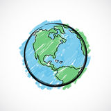 Painted Earth Royalty Free Stock Image