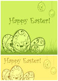 Painted Easter background & text Stock Photos