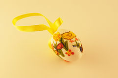 Painted easter egg. With ducks and bunny Royalty Free Stock Photos