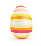 Painted Easter Egg. Isolated on white background Royalty Free Stock Photo