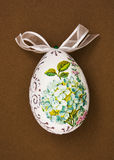 Painted Easter egg with the flowers theme Stock Photo