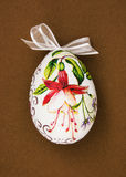 Painted Easter egg with red flower Royalty Free Stock Images