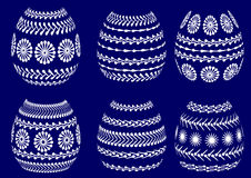 Painted easter egg silhouettes Royalty Free Stock Photo