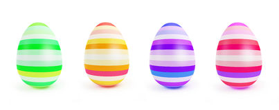 Painted Easter Egg on a white background Royalty Free Stock Photos