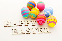 Painted easter egg Stock Photos