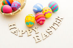 Painted easter egg Stock Images