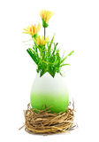 Painted easter egg with a yellow flowers Stock Image