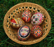Painted Easter eggs 1 stock photos