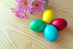 Painted Easter eggs stock images