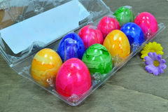 Painted Easter eggs Stock Photography