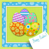 Painted Easter Eggs. Abstract background with painted Easter Eggs Stock Image