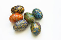 Painted easter eggs arrangement. Stock Images