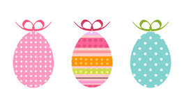 Painted easter eggs as gifts Stock Photo