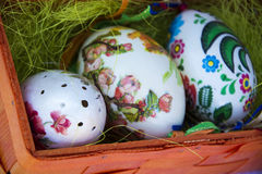 Painted easter eggs Stock Photos