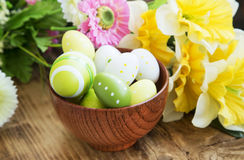 Painted Easter Eggs in a Bowl Royalty Free Stock Photography