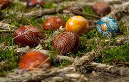 Painted Easter eggs Royalty Free Stock Images