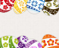 Painted Easter eggs with floral patterns Stock Photography