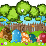 Painted Easter eggs in the grass Royalty Free Stock Photo