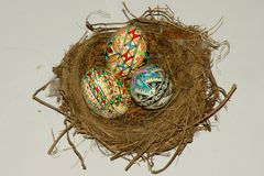 Painted easter eggs. Painting eggs is a custom orthodox 2,000 years old Royalty Free Stock Photos