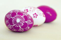 Painted Easter eggs Stock Photo