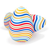 Painted easter eggs with stripes Stock Photography