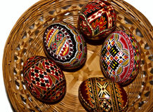 Painted Easter eggs 11. Trditional painted Easter eggs. Specific for the N-E of Romania Royalty Free Stock Image