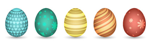 Painted Easter eggs. Vector illustration. Royalty Free Stock Image