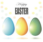 Painted Easter eggs vector Stock Images
