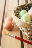 Painted Easter Eggs - Vertical Royalty Free Stock Photography