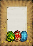 Painted easter eggs on vintage background Royalty Free Stock Image