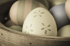 Painted Easter Eggs - Vintage Style Stock Images