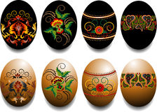 Painted Easter Eggs With A Pattern. Design. Royalty Free Stock Photography