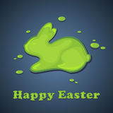 Painted Easter rabbit Royalty Free Stock Image