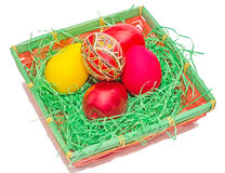 Painted Easter romanian traditional eggs Royalty Free Stock Photography