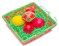 Painted Easter romanian traditional eggs Royalty Free Stock Photos