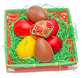 Painted Easter romanian traditional eggs Royalty Free Stock Image