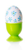 Painted egg in a stand Royalty Free Stock Images