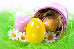 Painted Eggs Royalty Free Stock Photography