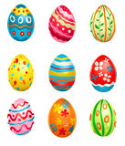 Painted eggs. For your design Royalty Free Stock Photo