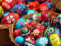 Painted eggs Stock Photo