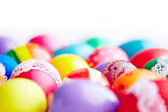 Painted eggs Stock Images