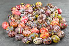 The Easter eggs from the collection The Peace of Lidia Borysenko. The painted eggs from the collection `The Peace`. Author Lidiya Borysenko, http://borisenko stock illustration