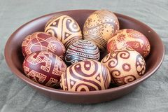 The painted eggs from the collection The Peace royalty free illustration
