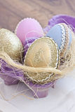 Painted eggs Royalty Free Stock Photo