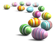 Painted eggs at Easter Stock Image