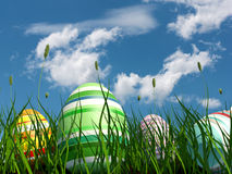 Painted eggs at Easter Royalty Free Stock Photo