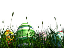 Painted eggs at Easter Stock Photos