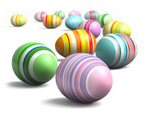 Painted eggs at Easter Stock Images